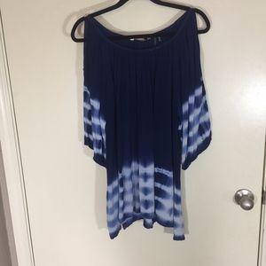 Soft Surroundings Blue Tie Dye Top XL